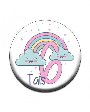 badge nuage arc en ciel kawai pastel