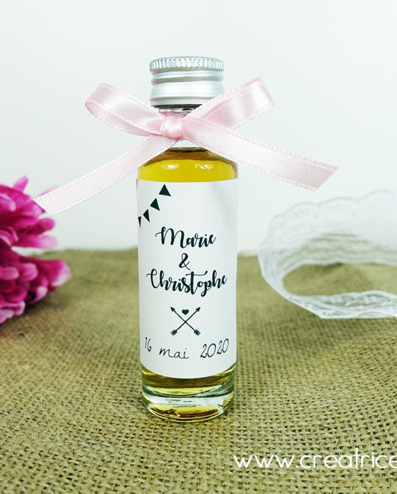 mini fiole alcool rhum cognac personnalise mariage 1