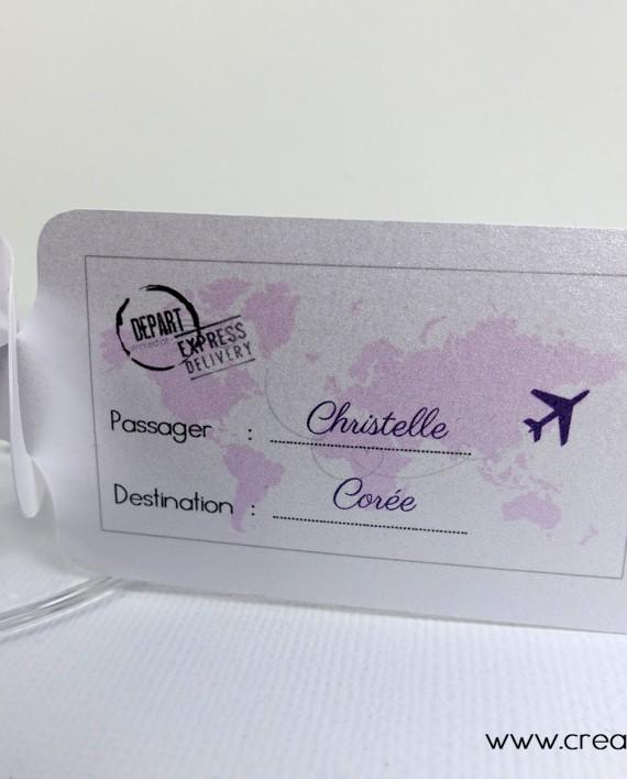 marque-place etiquette bagage verre vin 2