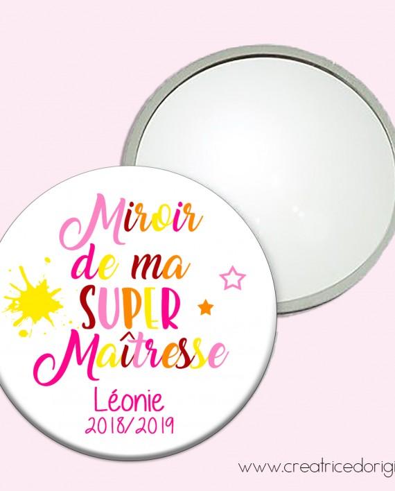 miroir super maitresse coloré