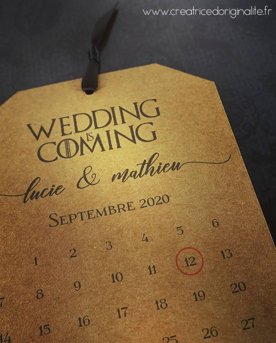 save the date game of throne 2 logo