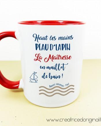 tasse mug haut les mains peau lapin maîtresse