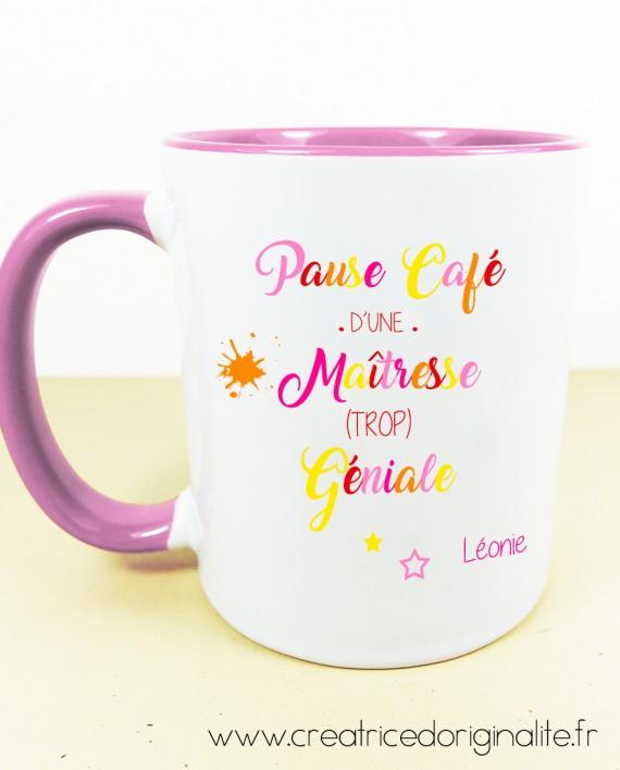 tasse mug rose pause café
