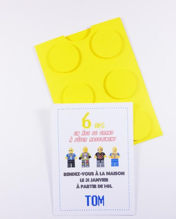 invitation pochette lego 1