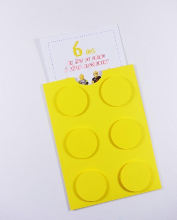 invitation pochette lego 2