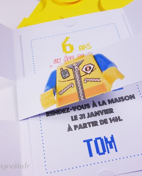 invitation pochette lego 4