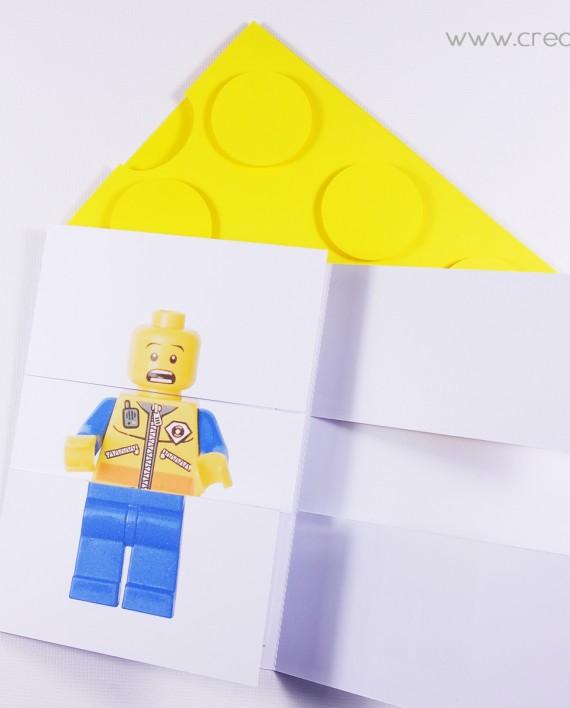 invitation pochette lego 5