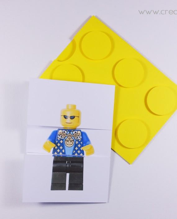 invitation pochette lego 8