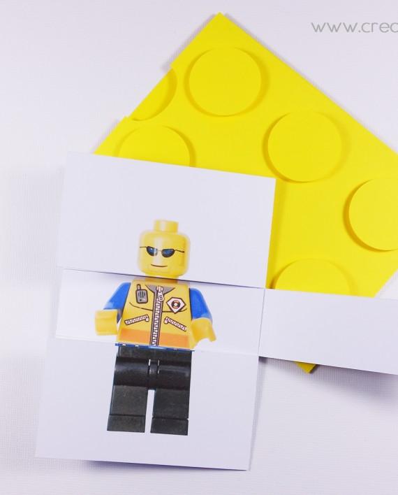 invitation pochette lego 9