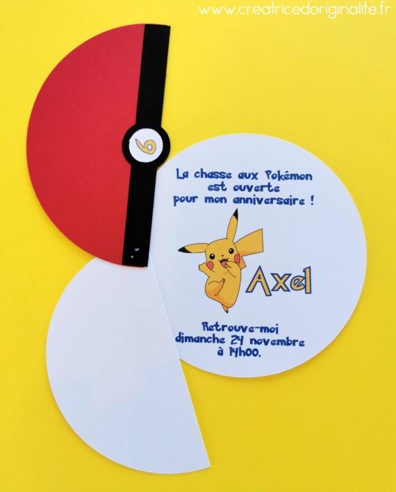invitation pokemon pikatchu 2