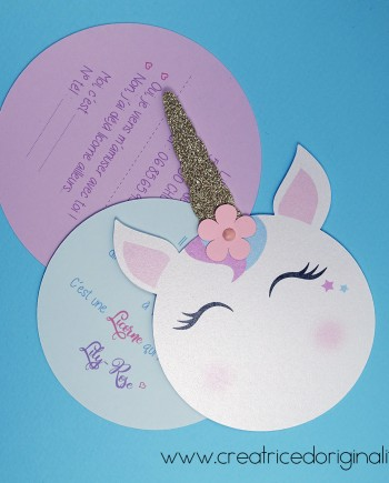 invitation licorne ronde 4