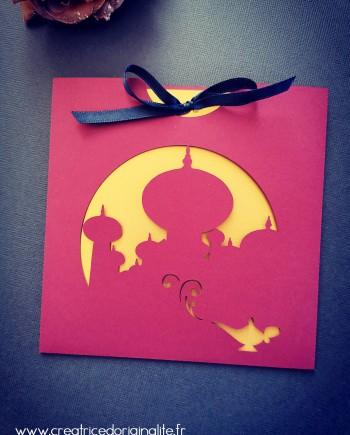 faire-part pochette oriental aladdin jasmine dinsey 1 logo
