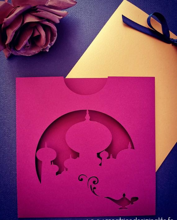 faire-part pochette oriental aladdin jasmine dinsey 3 logo