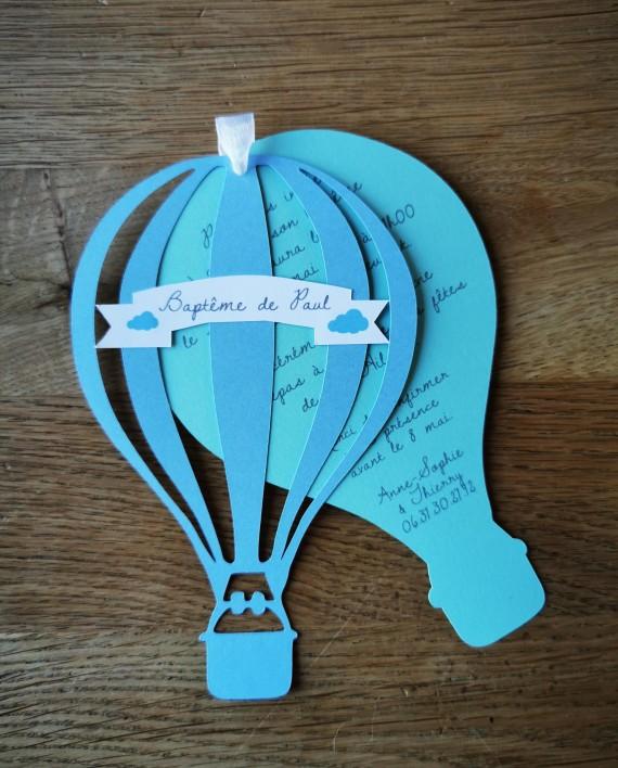 faire-part montgolfiere bleu