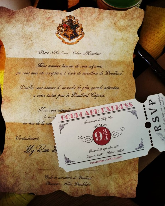 invitation harry potter 1