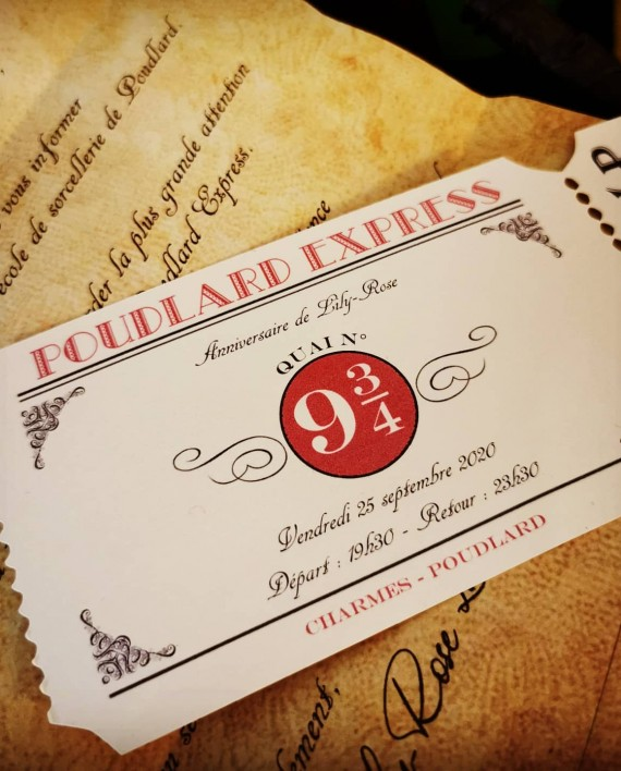 invitation harry potter 2