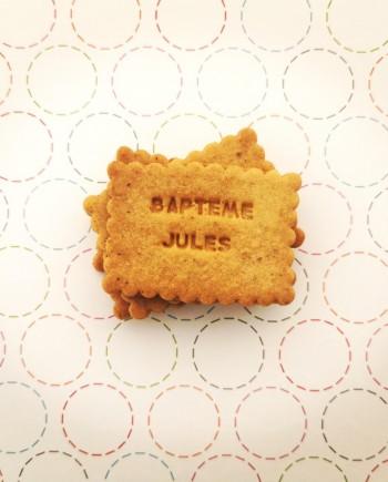 biscuits personnalisés baptême amande