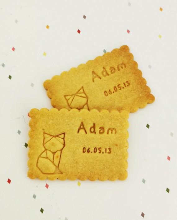 biscuits personnalisés bapteme renard nature