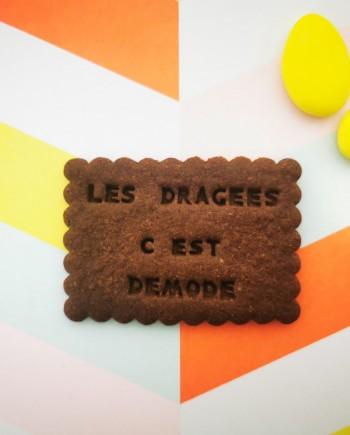 biscuits personnalisés chocolat dragées