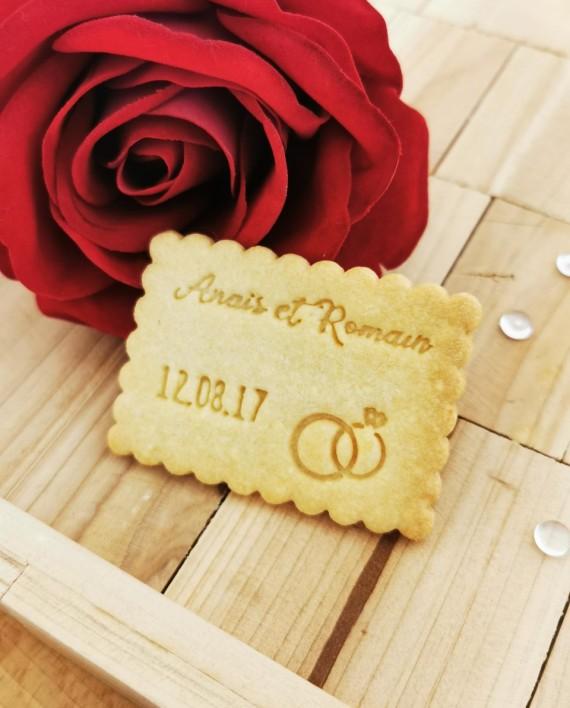 biscuits personnalisés mariage alliance nature