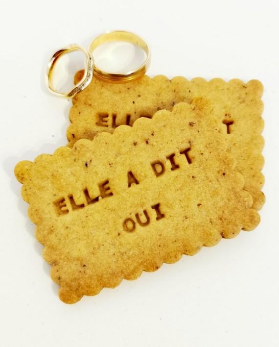 biscuits personnalisés oui noisette