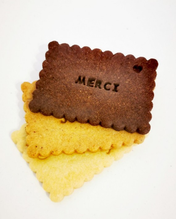 biscuits personnalisés trio chocolat noisette nature